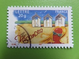 Timbre France YT 3788 (AA N° 53) - Timbre Pour Vacances - Cabines De Plage - 2005 - Sellos Autoadhesivos