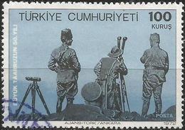 TURKEY 1972 - Mi. 2264 O, ATATÜRK And Officers In Kocatepe   Battle   Great Offensive   Military - 1921-... Republik