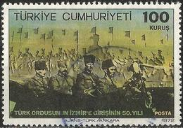 TURKEY 1972 - Mi. 2267 O, Entry Of The Turkish Army In Izmir   Flags   Military Forces   Military Officers - 1921-... Republik