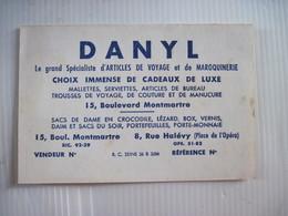 CALENDRIER PUBLICITAIRE DANYL PARIS Et Plan Métropolitain 1961   TBE - Petit Format : 1961-70