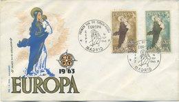 SPAGNA  - FDC 1963 - EUROPA UNITA - CEPT -  ANNULLO SPECIALE - ARTE - FDC
