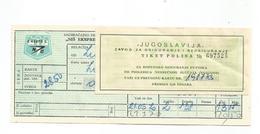 "Bus Ticket WITH INSURANCE CARD Yugoslavia "" NIS EKSPRES"" SUBOTICA - BEOGRAD 1970. - Europa"