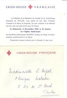 CROIX ROUGE FRANCAISE - TOULON -MESSE DE REQUIEM A LA MEMOIRE DE TOUS CEUX QUI SONT MORTS POUR LA FRANCE 1961 - Announcements