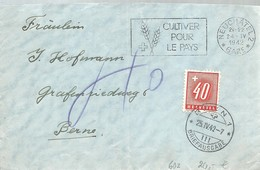 LETTER 1942  NEUCHATEL  GARE A BERN - Lettres & Documents