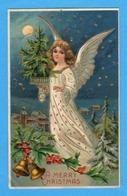 Noel Weihnachten Christmas Ange Cloche Sapin (relief) - Angeli
