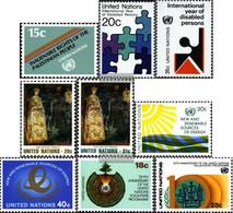 UN - New York 366,367-368,369-370, 371-372,389-390 (complete Issue) Unmounted Mint / Never Hinged 1981 DisAbled, Art, En - Unused Stamps