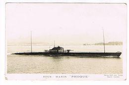 """CPA. Bateau.Sous Marin """"Phoque""""        (F.730) - Paquebots"""