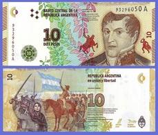 Argentina P360, 10 Pesos, Gen Belgrano / Juana De Padilla And Belgrano UNC $7 CV - Argentina