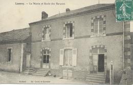 DPT 72 LAMNAY (Sarthe) La Mairie Et L'Ecole Des Garçons CPA  TTBE - Autres Communes