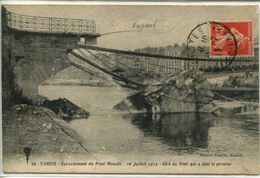 """44- Nantes- Ecroulement Du Pont Maudit 16 Juillet 1913 """" Côté Du Pont Qui A Cédé Le Premier"""" - Nantes"""