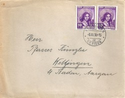 Brief  St.Gallen - Wettingen  (St.Galler Tracht)           1938 - Covers & Documents