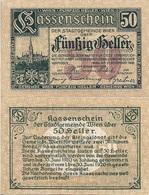 Austria P R59, 50 Heller, 1922, Clock Tower Regional Issue For Vienna, UNC - Austria