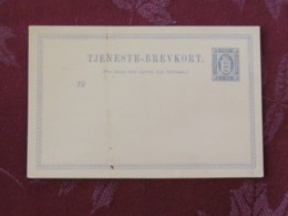 Denmark Around 1890 Stationery Postcard Unused - Arms Lions - 1864-04 (Christian IX)