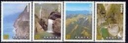 1989 Taroko National Park Stamps Mount Gorge Falls Geology Waterfall Taiwan Scenery - Climate & Meteorology