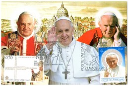 2014 Joint / Congiunta Vatican With Italy And Poland, FDC MAXIMUMCARD VATICAN 2 STAMPS: Canonizations Popes - Gezamelijke Uitgaven