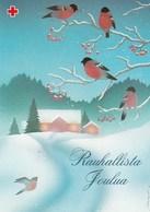 Birds On Rowan In Winter Landscape - Bullfinches - Red Cross 2001 - Postal Stationery - Suomi Finland - Postage Paid - Finlande