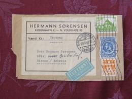 Denmark 1948 Front Of Cover Copenhagen To Switzerland - King - Nummer - Church - Dinamarca