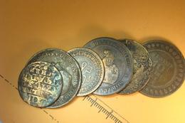 Lot De 6 Monnaies Bronzes  (66) - France