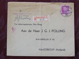 Denmark 1950 Registered Cover Copenhagen To Holland - King - Dinamarca