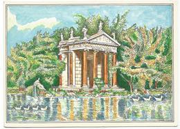W2118-21 Roma - Villa Borghese - Il Laghetto - Illustrazione Illustration Eros Donnini / Non Viaggiata - Parks & Gardens