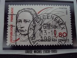"""80-89 Timbre Oblitéré N°   2408 """"   Louise Michel """"    0.20 - France"""