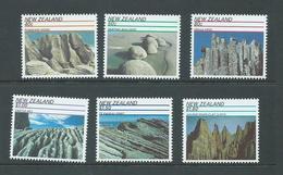 New Zealand 1991 Rock Formations Set 6 MNH - Nueva Zelanda