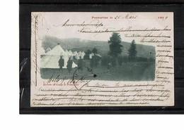 25  CP  PONTARLIER  Arrivée Au Camp, Voyagée 1899  2104 - Pontarlier