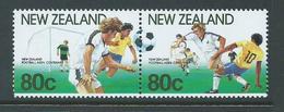 New Zealand 1991 Soccer Joined Pair MNH - Nueva Zelanda