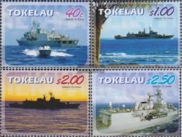 Tokelau 354-357 (complete Issue) Unmounted Mint / Never Hinged 2005 Frigate Te Kaha - Tokelau