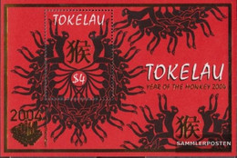 Tokelau Block30I (complete Issue) Unmounted Mint / Never Hinged 2004 Chinese Year - Hong Kong - Tokelau