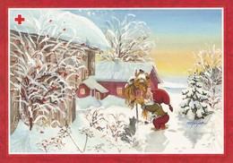 Postal Stationery - Elf Feeding Birds - Bullfinches - Red Cross 1997 - Suomi Finland - Postage Paid - Finlande