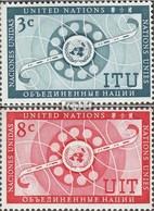 UNO - New York 47-48 (kompl.Ausg.) Gestempelt 1956 Fernmelde-Union - New York -  VN Hauptquartier