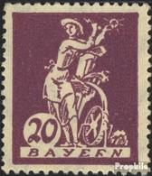 Bavière 181III, R Dans BAYErN Cassé Avec Charnière 1920 Adieu La Série - Beieren