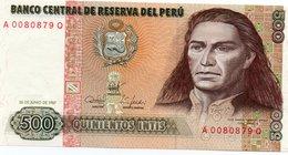 PERU=1987  500  INTIS      P-134     UNC - Perú