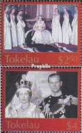 Tokelau 335-336 (kompl.Ausg.) Postfrisch 2003 Krönung Königin Elisabeth II. - Tokelau