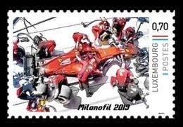 Luxembourg (Meng Post) 2019 No. 124 Formula 1. Ferrari Race Car Performs A Pit Stop MNH ** - Lussemburgo