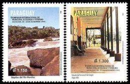 PARAGUAY 1995. Municipalités, écologie, Tourisme. Rapides Et Gare Ferroviaire(2) - Paraguay