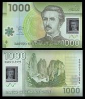 Chile P161c, 1000 Pesos, Ignacio Pinto, National Flower Bellflower POLYMER UNC - Chile
