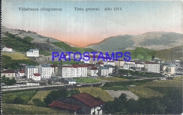 109502 SPAIN ESPAÑA VILLAFRANCA GUIPUZCOA PAIS VASCO VISTA GENERAL AÑO 1914 POSTAL POSTCARD - Sin Clasificación
