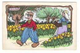 Illustrateur  DICK  WILLIAMS  ( Série N° 306 , M.M. VIENNE ) /  Scène De HOLLANDE  ( Tulipes, Sabots, Cigare, Enfants ) - Autres Illustrateurs