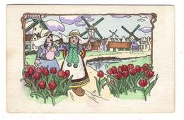 Illustrateur  DICK  WILLIAMS  ( Série N° 306 , M.M. VIENNE ) /  Scène De HOLLANDE  ( Tulipes, Sabots, Moulins, Enfants ) - Autres Illustrateurs