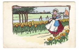 Illustrateur  DICK  WILLIAMS  ( Série N° 306 , M.M. VIENNE ) /  Scène De HOLLANDE  ( Tulipes, Sabots, Moulins, Canal ) - Autres Illustrateurs