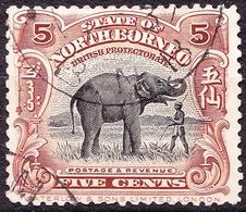 NORTH BORNEO 1909 5 Cents Black And Yellow-Brown SG165 FU - North Borneo (...-1963)