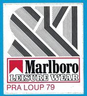 AUTOCOLLANT SKI MARLBORO LEISURE WEAR PRALOUP 79 - Stickers