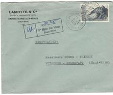 15696 - STE MARIE AUX MINES Recommandée  Provisoire - 1921-1960: Période Moderne