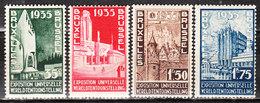 386/89**  Exposition Universelle De Bruxelles - Série Complète - MNH** - COB 70 - Vendu à 13% Du COB!!!! - Belgique