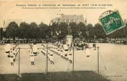 280319 - 08 GIVET Concours National International Gymnastique 1910 Production En Simultané Fédération Ardennaise - Givet
