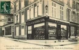 280319 - 08 RETHEL Bijouterie Orfèvrerie A MAROIS Place De La République - Commerce A La Gerbe D'or Pharmacie - Rethel
