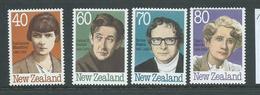 New Zealand 1989 Authors Set 4 MNH - Nueva Zelanda