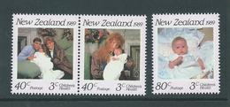 New Zealand 1989 Royal Family Charity Health Set Of 3 - Pair & A Single - MNH - Nueva Zelanda